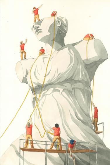 Sicherung einer Figur
